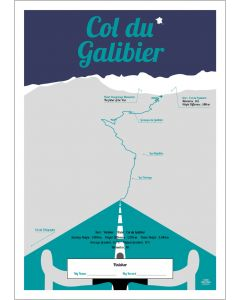 Finisher-Poster Col du Galibier